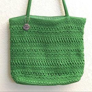 The Sak Green Spring Shoulder Handbag Purse